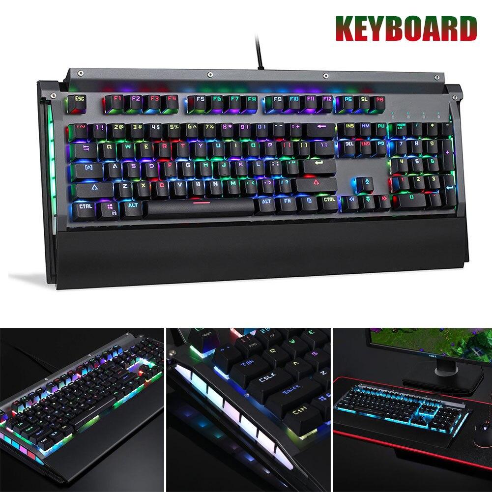 RGB clavier mécanique 104 touches USB 2.0 Kailh boîte commutateur filaire vitesse de réponse rapide JLRJ88
