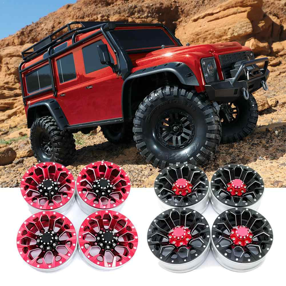 4PCS 1.9 Inch RC Rock Crawler Alloy Wheel Rim Beadlock For 1:10 Axial Traxxas TRX-4 RC Car Accessories Wheel Hub