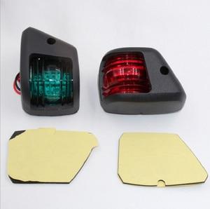 Image 2 - 1 paar Rot Grün LED Signal Lampe Mini Navigation Licht für 12V Marine Boot Yacht