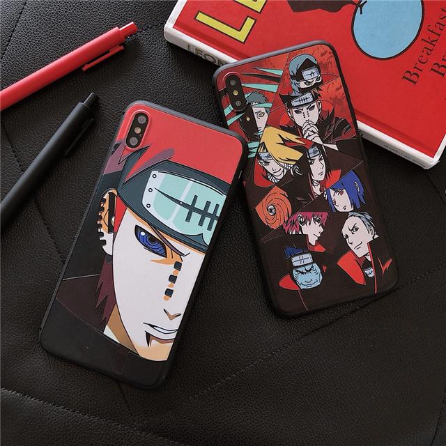 Japan classic animated Naruto Akatsuki case for iPhone
