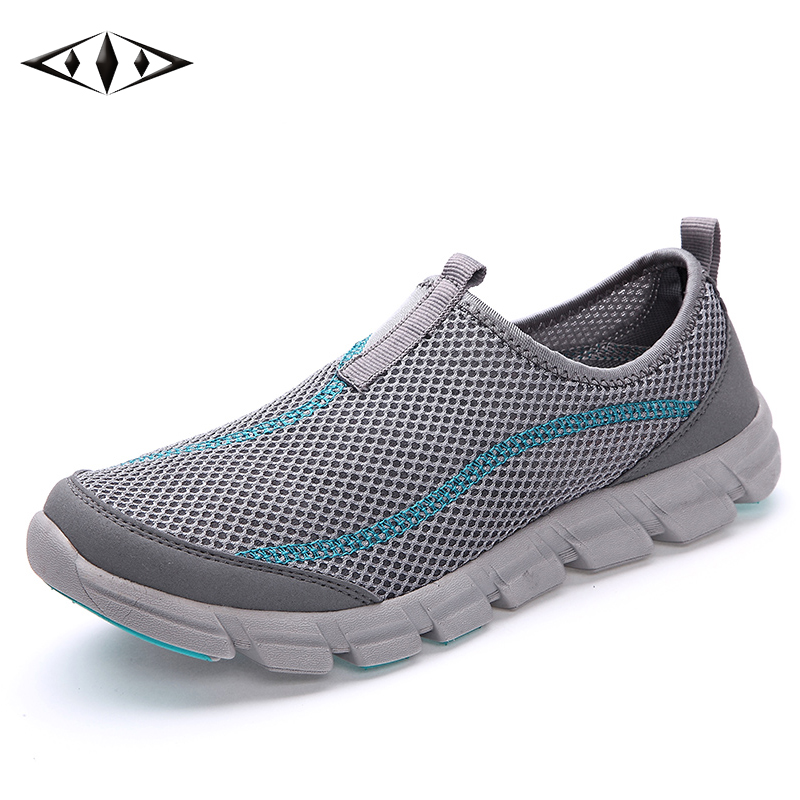LEMAI New Arrival Walking Shoes For Men Summer Breathable Outdoor Sport Air Mesh Super Blue Light Sneakers FB013-2