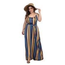 Полосатое платье трапециевидной формы с принтом летнее сексуальное