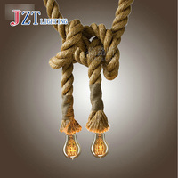 Z LOFT INDUSTRIAL Toronto Manila 3M Rope Ceiling Lights Chandeliers RUSTIC Vintage Hemp Rope Light