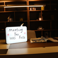 New DIY A4 Light Box Tail Led Lovely Tail Shape Handwriting Board A4 Pad Table With 3x three color Pen Holiday Gift ZQ CY1032