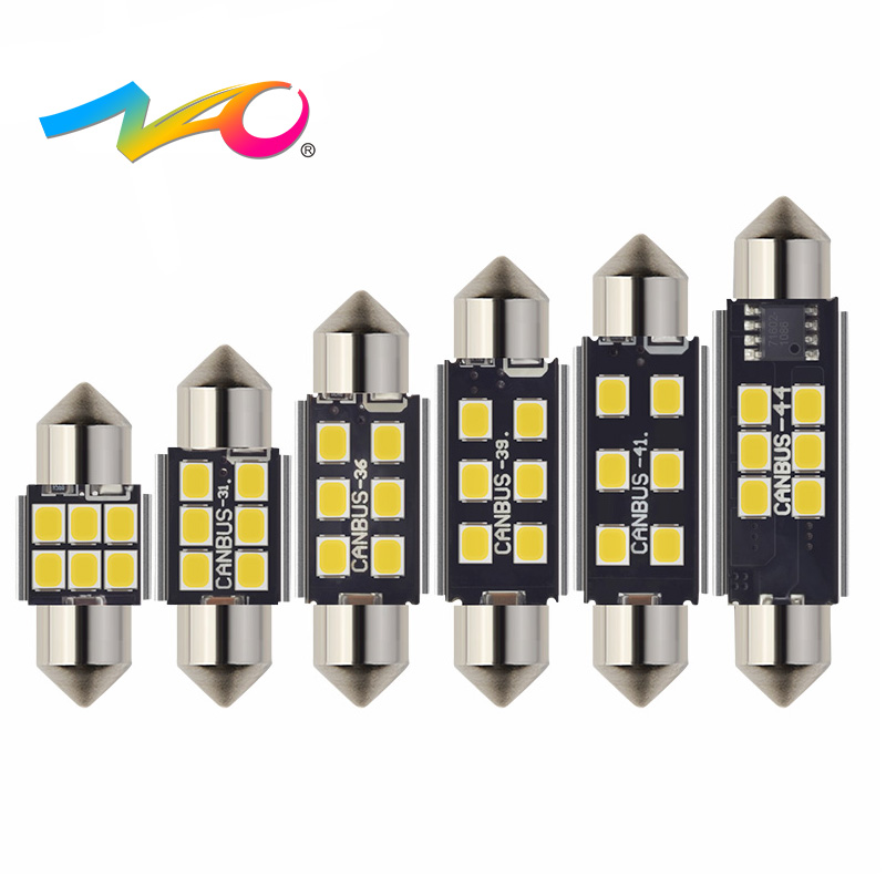 NAO 2x C5W led car CANBUS led auto Interior light Festoon 31mm C5W C10W led bulb 36mm 28mm 39mm 41mm 44mm 12V Signal Lamp white ошеверова л ред 50 уход за лицом идеальный возраст isbn 9785699549283