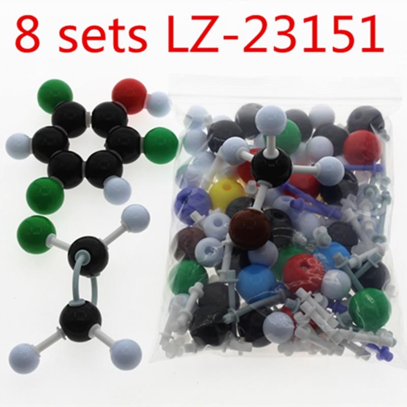 8 sets wholesale LZ-23151 molecular model organic chemistry model kit molecules structure models set for teacher student new organic chemistry scientific atom molecular models links kit set wholesale