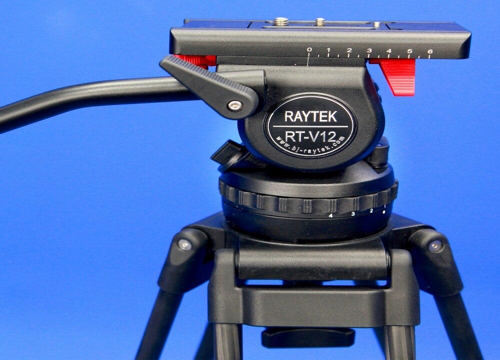 Traytek V12 Camera Camcorder Tripod Pro for Video Stand DSLR Video Tripod Fluid Head Damping Aluminium and Carbon Fibre Material wt3110a 40 inch aluminum tripod stand for camera dslr camcorder