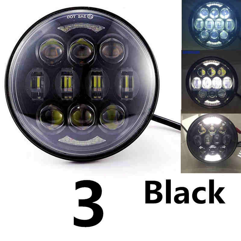 New Motos Accessories 5.75 Headlight Motorcycle 5 3/4 Led Headlight For Harley 5-3/4 Motorcycle Black Projector Motor Home