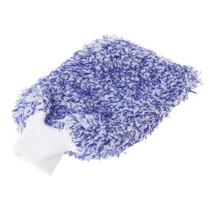 Image 5 - 1PC Car Care Glove Plush Soft Microfibre Wash Mitt Microfiber Car Cleaning Detailing