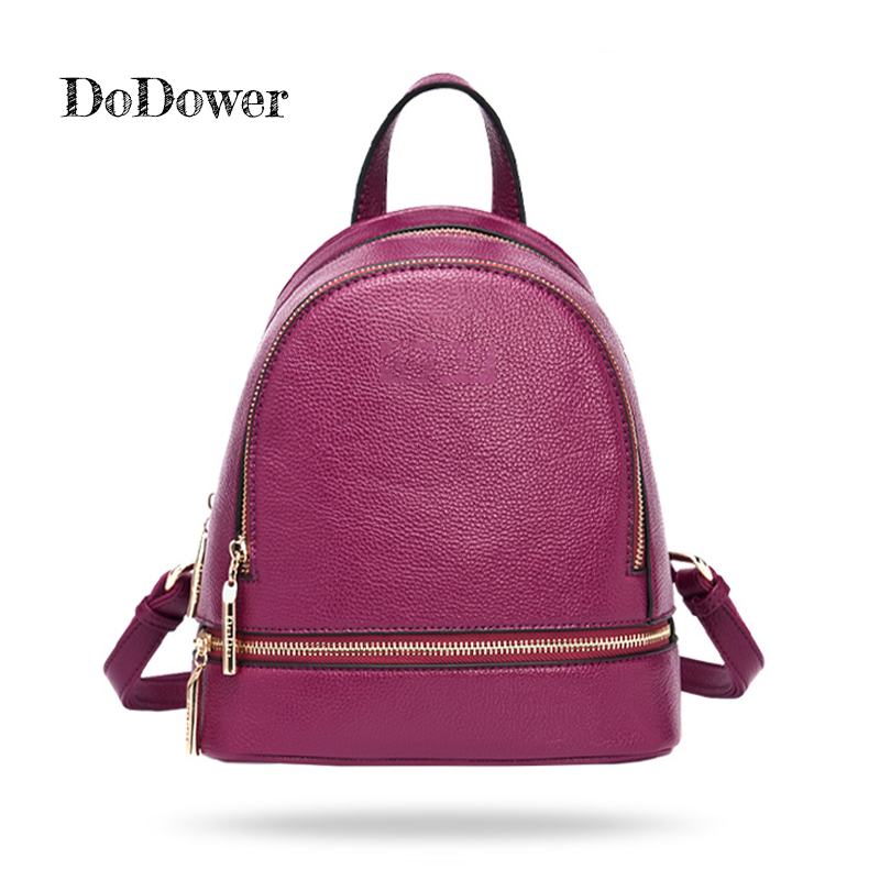 Brand Do Dower Fashion PU Leather Backpacks Zipper Women Bags Preppy Style Backpack For Girls School Bags Back Pack new arrival do dower brand designer bags pu leather backpacks women vintaga style fashion rucksacks school backpack for girls