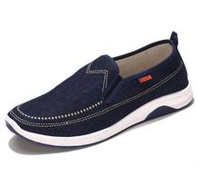 Spring Men Shoes Dark Blue Casual Shoes Men 2017 Breathable Slip on Shoes Outdoor Flats Men Canvas Shoes Male Zapatos Hombre