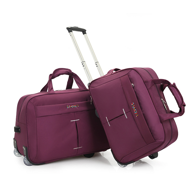 Simple Large Capacity Wheel Trolley Bag Ladies Aircraft Bag Men s Foldable Portable hand Travel Bag