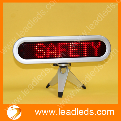 Free Shipping mini led moving message display sign for car advertising with Red 7x41 pixels