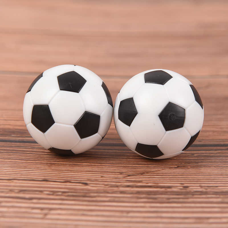 2pcs New Black and white Environmentally friendly resin Foosball table soccer table ball football balls baby foot fussball 32mm