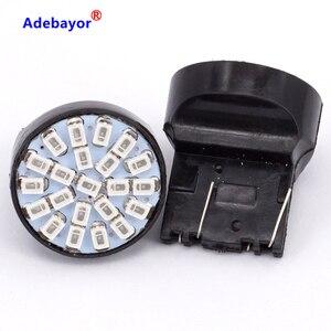 Image 2 - 100X T20 7443 W21/5 W 22 1206 LED 3014 SMD רכב היפוך גיבוי מנורת תור היגוי כיוון מחוון lamplet להפסיק בלם אור