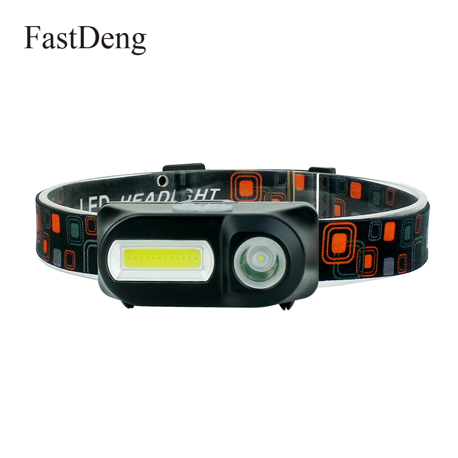 LED Headlamp COB + XPE Night Running Head Lamp USB 5W Headlight Torch For Fishing Camping Hiking Use 18650 Rechargeable Battery