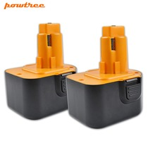 Powtree For Black&Decker Firestorm 2PCS 12V 3000mAh PS130 Ni-MH Battery Replaceable A9275 A9252 HP331 HP331K-2 HP331K2 HP431