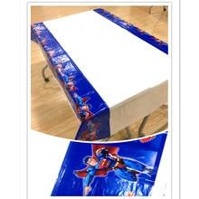 Superman Party Supplies Plastic Tablecloth Birthday Decoration Baby Shower Superhero Table Cloth 108x180cm