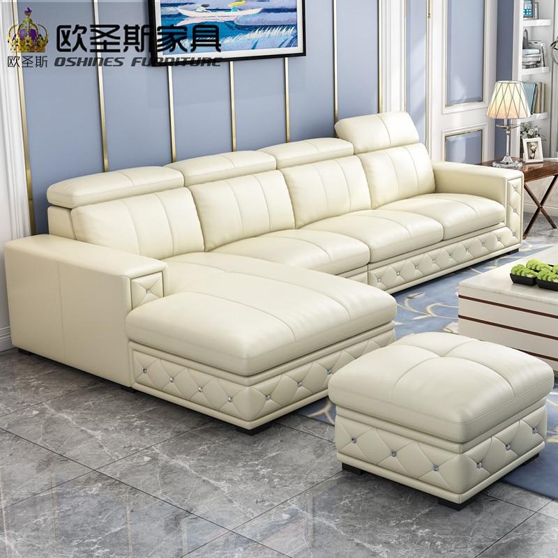 Buy Sofa Set Online Latest Sofa Designs 2019 Black L Shaped Modern Corner Leather Sofa Germany With Adjustable Backrest Sofa F36|latest Sofas|latest Sofa Designsdesign Leather Sofa - AliExpress