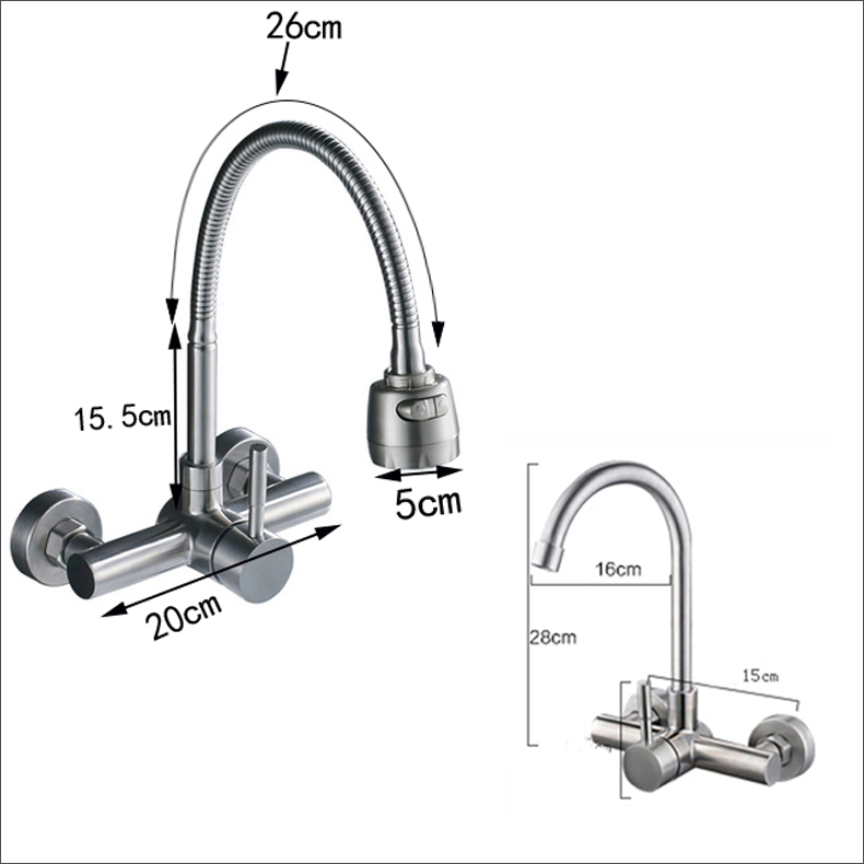 Single-Handle-Flexible-Hose-Kitchen-Faucet-Wall-Mounted-360-Degree-Rotate-Bathroom-Kitchen-Mixers-Hot-and