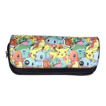 Хит, мультяшный кошелек с принтом покемона, carteira, держатель для карандашей, кошельки из искусственной кожи, органайзер, двойная молния, сумк...