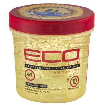 Eco hair styling gel with argan oil olive oil hair styling wax 16oz