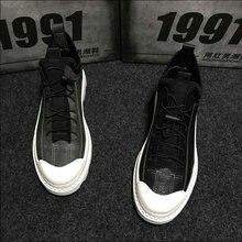 Fashion Design Male Retro Sneakers Lace-up Flats shoes Hip hop black gray Men Casual Shoes High Top Canvas Shoes MM-87