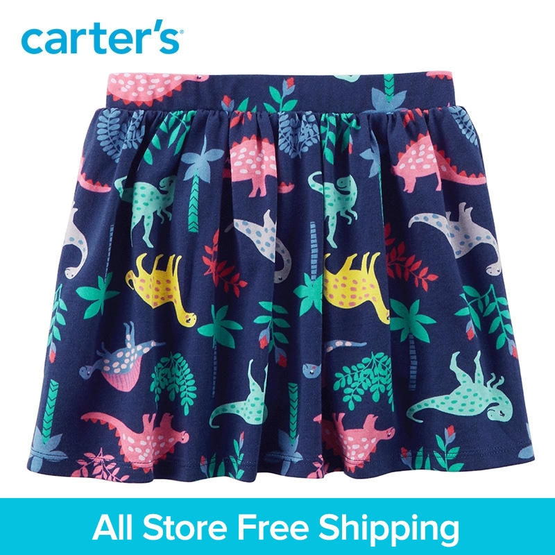 Carters 1-Piece baby children kids clothing Girl Spring Summer Dinosaur Jersey Skort 258G825/278G829