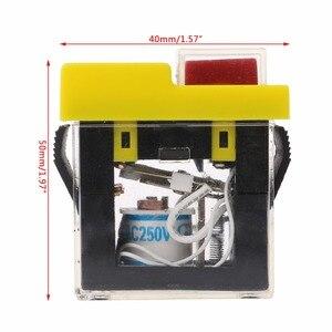 Image 5 - AC 250V 6A IP54 עמיד למים אלקטרומגנטית לחיץ מכונת מסור חותך תרגיל על Off מתג בטיחות
