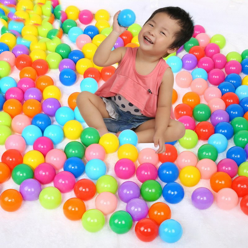 100PCS Colorful Soft Plastic Balls Pit Balls Ocean Wave Ball Baby Funny Balls for Indoor Outdoor Play Tents Swim Pool Toys PX40