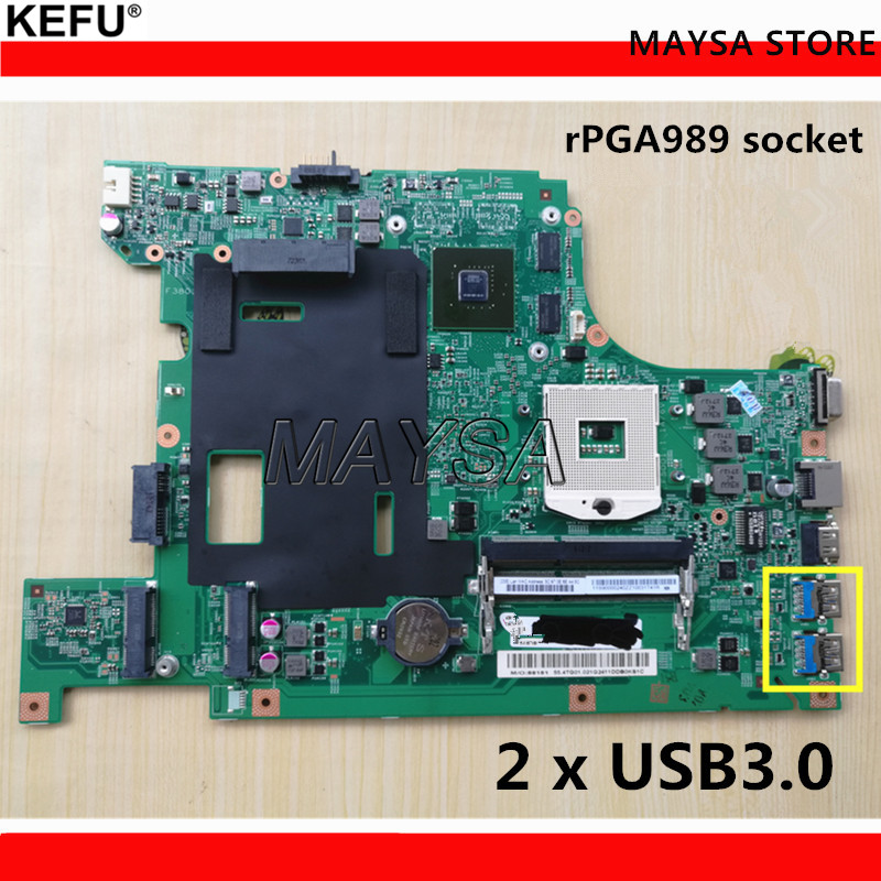 55.4YA01.00 48.4TE05.011 11S90001841 B590 GT720M HM77 Main board Fit for Lenovo B590 B580 Notebook Motherboard free shipping new for lenovo b590 b580 notebook motherboard main card support for pentium cpu only page 2