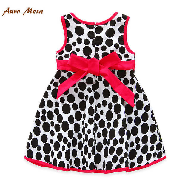 94ce1262ee24b2 Fashion Milan Wave Point Baby Vestidos 100% Cotton Sleeveless Kids Princess  Dresses Summer Girl Frocks-in Dresses from Mother & Kids on Aliexpress.com  ...