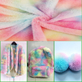 45*150CM Flannel Fabric Color Gradient Pattern Fabric Soft Touch DIY Headband Home Textile Clothes Decorative Sewing Materials
