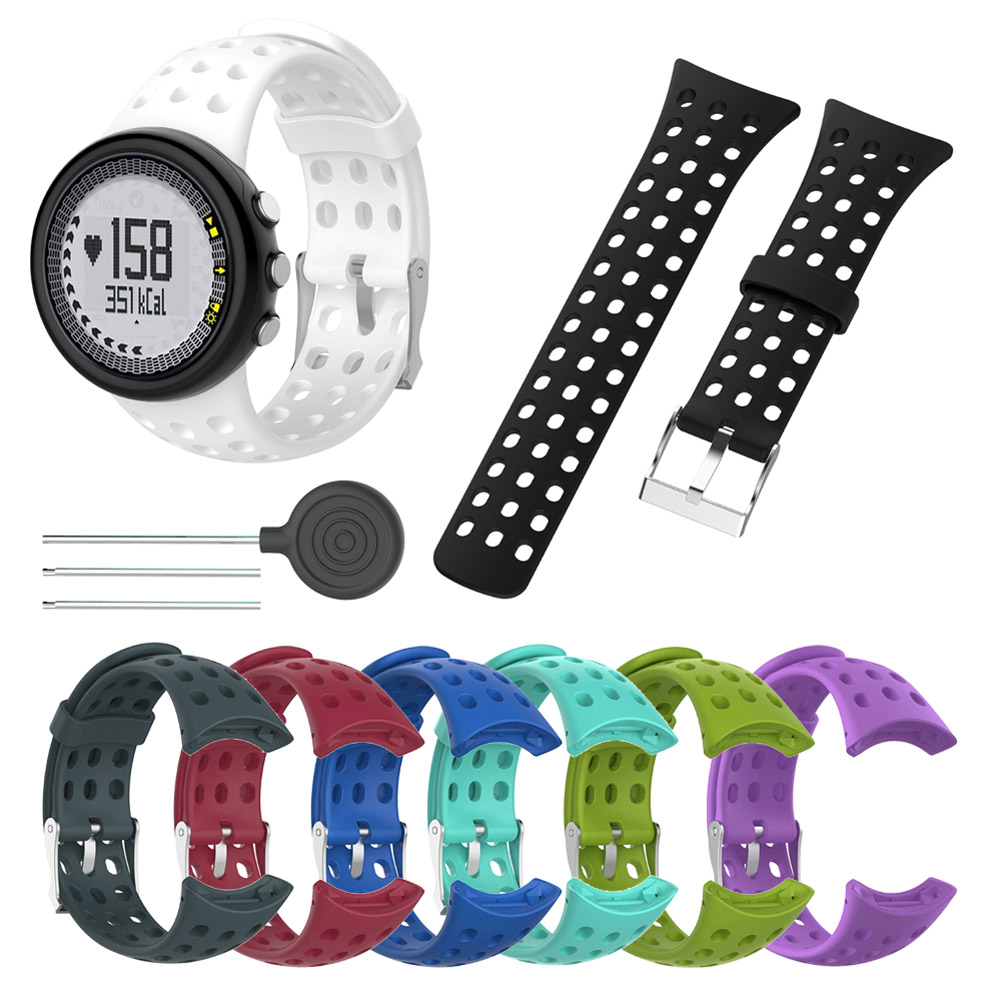 1 Pcs Replacement Silicone Watch Band Bracelet Strap For SUUNTO M1 M2 M4 M5 M Series Universal Watchband With Install Tools LXH1 Pcs Replacement Silicone Watch Band Bracelet Strap For SUUNTO M1 M2 M4 M5 M Series Universal Watchband With Install Tools LXH