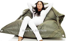 Wholesale Khaki color Outdoor Adult Bean Bag Chair Garden Camping Beanbags Lazy Sofa Anywhere Portable Sitting