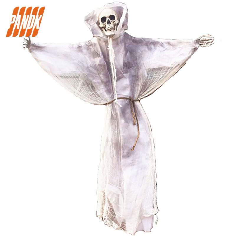 6Ft Halloween Props Hanging Ghost Scary SKULL Zombie