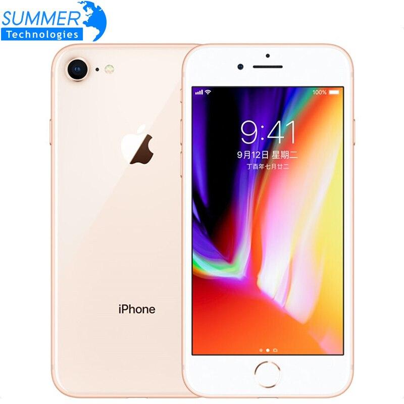Téléphone portable d'origine débloqué Apple iPhone 8 LTE 2 GB RAM 4.7