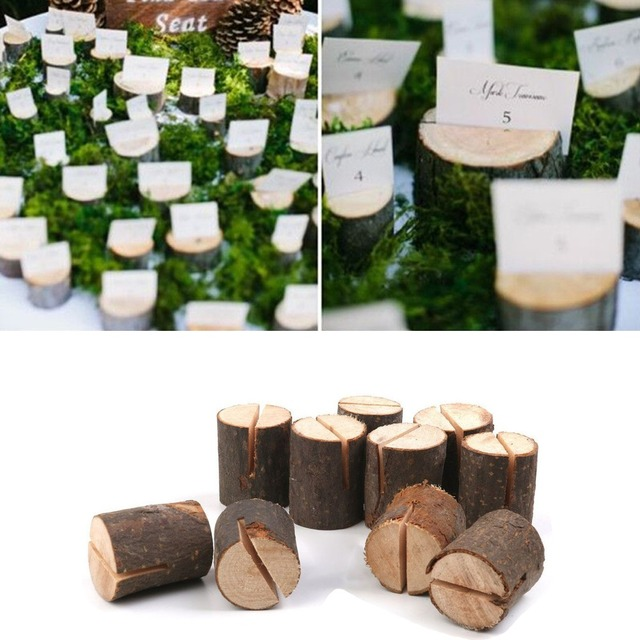 Exceptionnel 10pcs Wedding Wooden Place Card Holders Table Number Stands For Party  Decorations