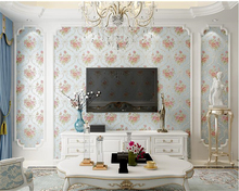 beibehang Non-woven wall paper European-style papel de parede 3d wallpaper 3D flower living room wedding room sofa TV background beibehang background wallpaper non woven gliter damask wall paper for living room bedroom papel de parede tapete contact paper