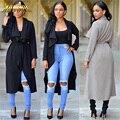 Adogirl Женщин Американский Пальто Мода Плюс Размер Траншеи Осень/Зима Европейский Тренчи Случайные Долго Верхняя Одежда Свободная Одежда