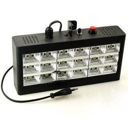 الصوت تحكم بالموسيقى 18 واط RGB Led المرحلة تأثير الإضاءة DJ حفلة عرض ستروب ديسكو ضوء 220 فولت التيار المتناوب 110 فولت جهاز عرض ليزر نادي بار