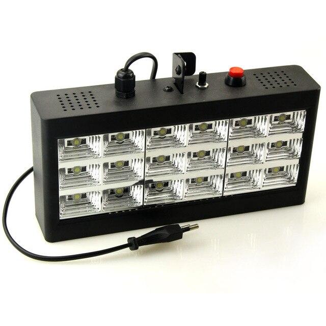 Светодиодный сценический светильник со звуковым управлением музыкой 18 Вт RGB, вечерние стробоскопы для DJ, дискотечный светильник 220 В переменного тока 110 В, лазерный проектор, клубный бар
