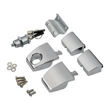Motorcycle Chrome Tour Pak Latches For Harley Touring Road King Electra Street Glide 2006-2013 2012 Pack