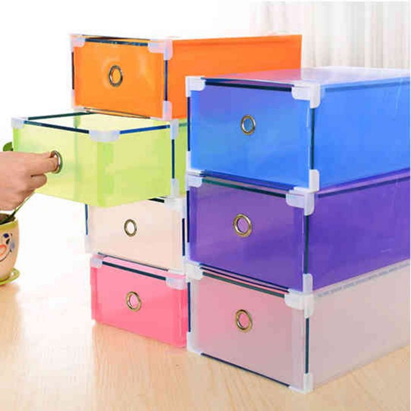 Multi Color Plastic Shoe Storage Box Case Boot Foldable Drawer Holder Shoes Organizer LH2 H1-in Storage Boxes u0026 Bins from Home u0026 Garden on Aliexpress.com ... & Multi Color Plastic Shoe Storage Box Case Boot Foldable Drawer ...