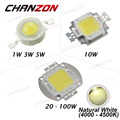 High Power LED Chip Natural White 4000K - 4500K 1W 3W 5W 10W 20W 30W 50W 100W SMD COB LED integrate for DIY Floodlight Spotlight