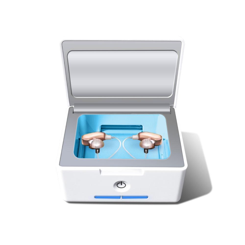 IRIVER BLANK Automatische Hörgerät Trockner Luftentfeuchter und Elektronische Cochlear Trockner UV-C Desinfektion Sanitizer und Reinigung