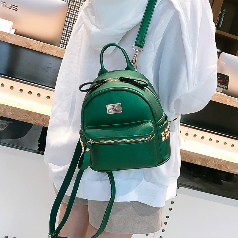 741ba10f00 Detail Feedback Questions about new Fashion Women Backpack Small PU Leather Women s  Rivet Backpacks School Girls Backpacks Female Shoulder Bags Brand ...