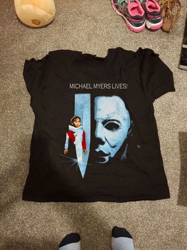 New Round Collar T Shirts Fashion 2018 Short Men Funny Crew Neck Revenge Of Michael Myers T Shirt ...