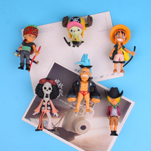 Anime One Piece series fridge magnet stickers 6 pieces /set 3D fridge magnet stickers Message post Whiteboard sticker anime avatar monster pet thumbnail funny spoof taste fridge magnet colourful squishy waterproof stickers kawaii toy recyclable