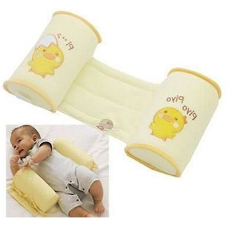 Comfortable Cotton Anti Roll Pillow Lovely Baby Infant Toddler Safe Sleep Head Positioner Anti-rollover Pillow